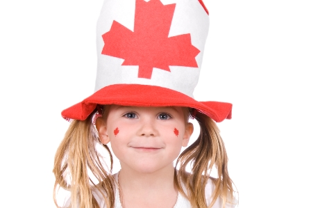 Girl with CanadianHat